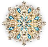 Joyería de la broche de la mandala, elemento del diseño Ornam geométrico del vintage ilustración del vector