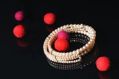 Joyería de la perla Imagenes de archivo
