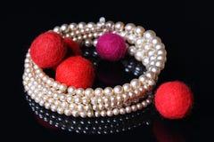 Joyería de la perla Foto de archivo