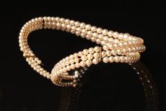 Joyería de la perla Foto de archivo libre de regalías
