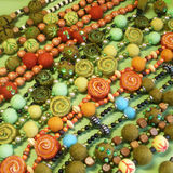 Joyería de las gotas felted hechas a mano Foto de archivo