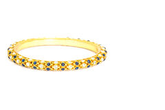 Joyería de oro de la pulsera Fotografía de archivo libre de regalías