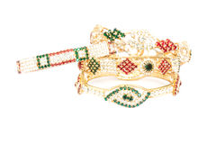 Joyería de oro de la pulsera Imagen de archivo libre de regalías