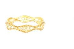 Joyería de oro de la pulsera Fotos de archivo libres de regalías
