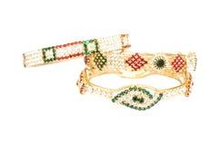 Joyería de oro de la pulsera Foto de archivo libre de regalías