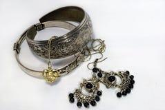 Joyería de plata Imagen de archivo libre de regalías