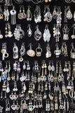 Joyería de plata Imágenes de archivo libres de regalías