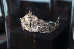 Joyería de plata oriental hermosa Fotos de archivo