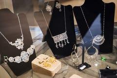 Joyería de plata oriental hermosa Imagen de archivo libre de regalías