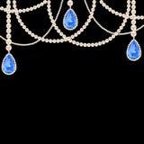 Joyería del collar de la perla de la ejecución Fotografía de archivo