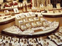 Joyería del oro Imágenes de archivo libres de regalías