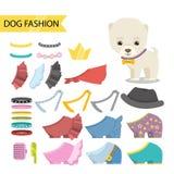 Joyería del perro, sistema del icono de la ropa Foto de archivo