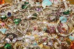 Joyería del platino con las gemas Fotos de archivo