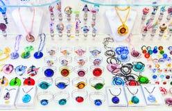 Joyería del vidrio de Murano Fotos de archivo libres de regalías