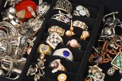 Joyería en rectángulo Imagen de archivo libre de regalías