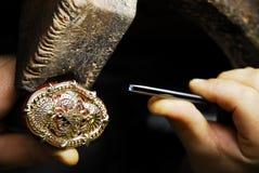Joyería hecha a mano - diamante Imagen de archivo