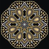 Joyería hermosa redonda, medallón, broche, decoración en el cuello, mandala, diamantes artificiales del applique libre illustration