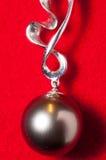 Joyería negra de la perla Fotos de archivo