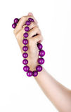 Joyería púrpura Foto de archivo libre de regalías