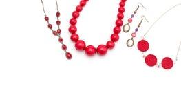 Joyería para las mujeres Rojo del collar Fotos de archivo libres de regalías