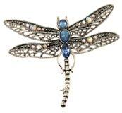 Joyería pendiente de la libélula aislada en blanco Foto de archivo libre de regalías