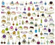 Joyería - piedras preciosas - aislada Foto de archivo libre de regalías