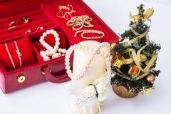 Joyería por la Navidad y el Año Nuevo Foto de archivo