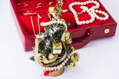 Joyería por la Navidad y el Año Nuevo Fotografía de archivo libre de regalías