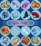 joyería y diversos accesorios Imagenes de archivo