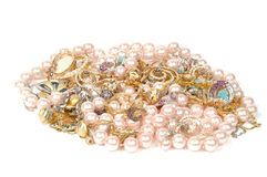 Joyería y perlas Fotografía de archivo