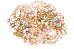Joyería y perlas Imágenes de archivo libres de regalías