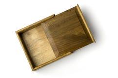 Joyero con borde de oro del nanmu Fotografía de archivo libre de regalías
