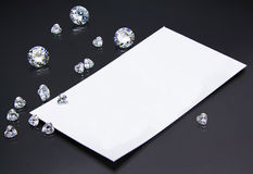 Joyero de la tarjeta de visita o vendedor del diamante Imagenes de archivo