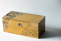 Joyero de madera Imagenes de archivo