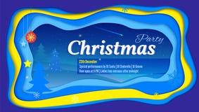 Joyeuse affiche de fête de Noël avec le lettrage Photos libres de droits
