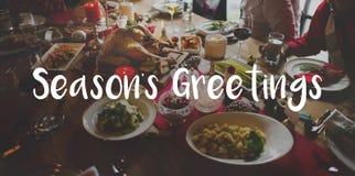 Joyeuse célébration lumineuse de salutation de saison image stock