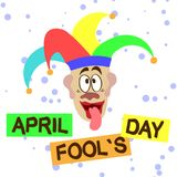 Joyeuse carte postale April Fools Day illustration libre de droits