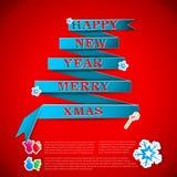 Joyeuse illustration de vecteur de la carte de voeux de Noël eps10 Photo libre de droits