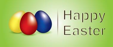 Joyeuses Pâques avec des oeufs de couleur illustration stock