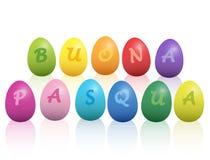 Joyeuses Pâques Buona Pasqua Italian Language Photo libre de droits