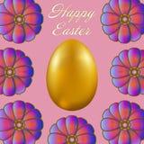 Joyeuses Pâques d'isolement sur le fond lilas Photo stock