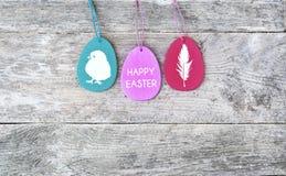 Joyeuses Pâques Egs de Pâques Image stock