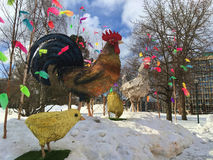 Joyeuses Pâques en Suède Photos libres de droits