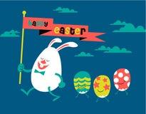 Joyeuses Pâques, illustration mignonne Photographie stock libre de droits