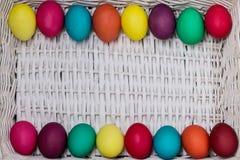 Joyeuses Pâques ! Le fond des oeufs de pâques colorés Photo libre de droits