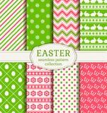 Joyeuses Pâques ! Modèles sans couture de vecteur Images stock