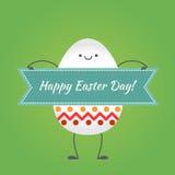 Joyeuses Pâques, oeufs heureux Image libre de droits