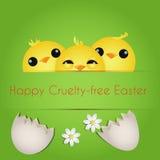 Joyeuses Pâques sans Cruauté Photographie stock