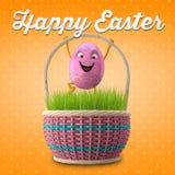 Joyeuses Pâques stupéfiant 3D la carte postale, bannière, fond Photo stock