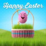 Joyeuses Pâques stupéfiant 3D la carte postale, bannière, fond Images libres de droits